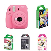 Fujifilm Instax Mini 9 Kamera flamingo rosa mit Film Box