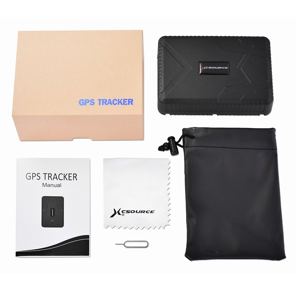 Car GPS Tracker Anti-Lost Waterproof GPS Tracker 120 days Standby GSM//GPRS Real Time Tracking Device Locator for Cars SUVs Motorcycles Trucks Vehicles