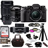 Fujifilm X-T2 Mirrorless Digital Camera w/ 18-55mm Lens +100-400 F4.5+ XF1.4X TC + Focus 32GB Gaget Bag