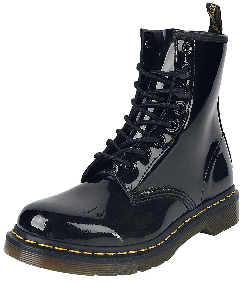 b817ffb51a1 Dr. Martens Women's 1460 8 Eyelet Patent Leather Lace-Up Boot Black