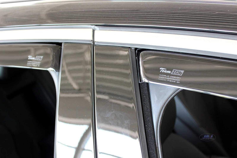 J/&J AUTOMOTIVE Windabweiser Regenabweiser f/ür Mercedes C-Klasse W205 4-t/ürer ab 2014 4tlg HEKO dunkel
