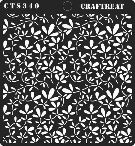 DIY Albums Tile Reusable Painting Template for Journal Crafting Home Decor Leaves2 Wall CrafTreat Stencil Floor Notebook Scrapbook and Printing on Paper Wood 6x6 inches Fabric