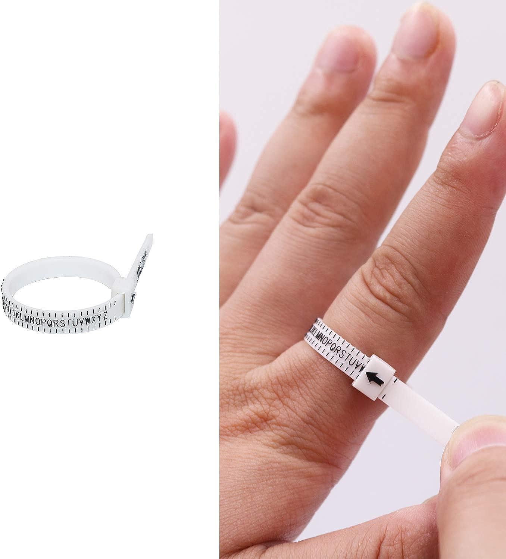 outil de mesure des doigts pour hommes//femmes//fabrication de bijoux Niupika Baguier en m/étal tailles 40 /à 67 3//4