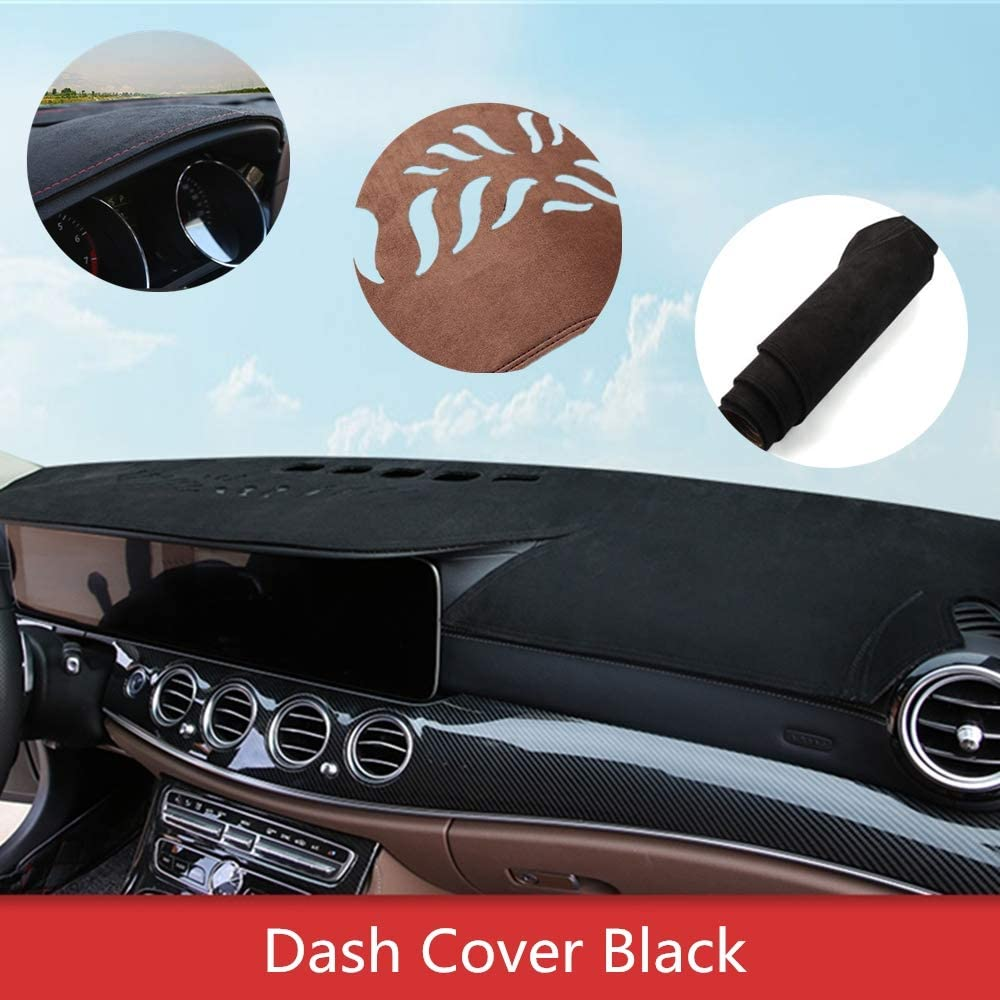 J52 15-20 Black Yiz Dashboard Cover Dash Cover Mat Pad Custom Fit for Ford Mustang 2015-2020 Without Collision Warning
