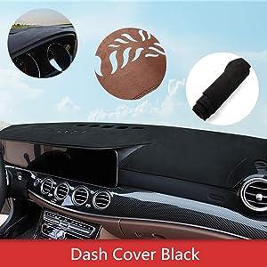 ytbmhhuoupx Dashboard Cover for Volkswagen VW Atlas 2018-2021 Dashboard Carpet Original Car Custom Dash Mat Anti-Glare Leather Black