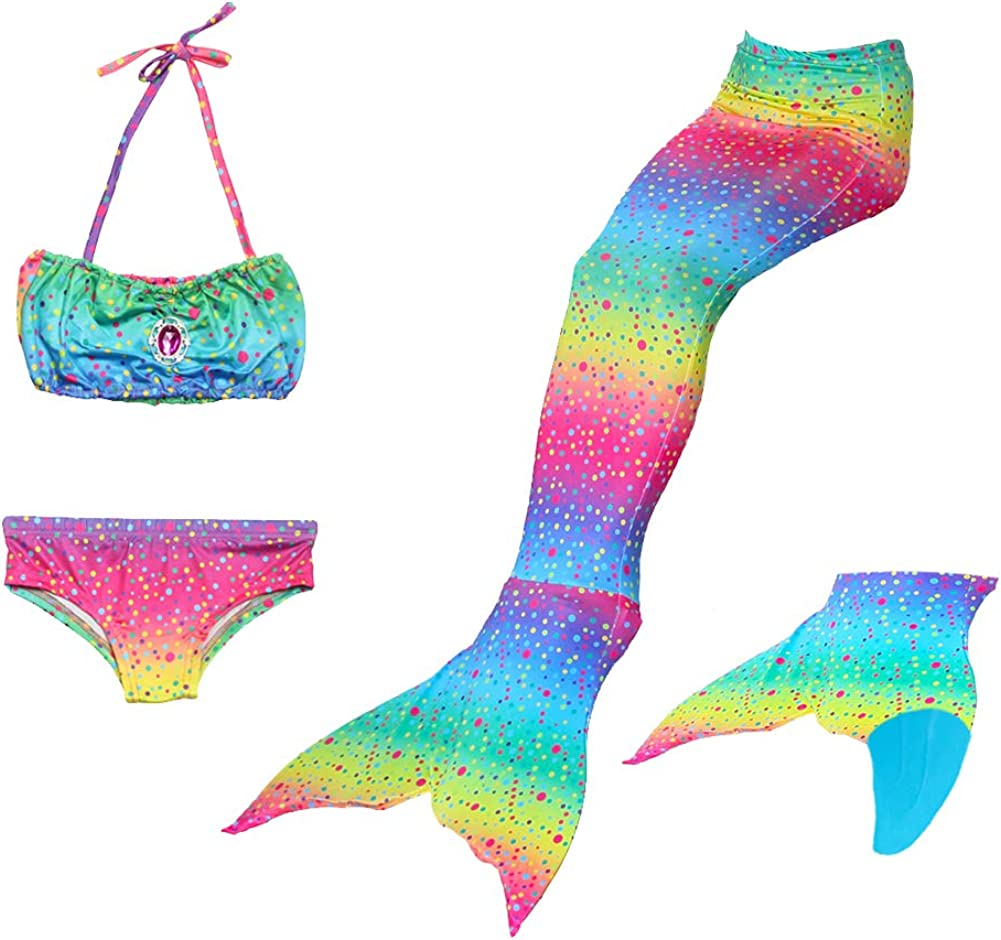 Le SSara 2018 New Girls sir/ène Tails Bikini Maillot de Bain d/éfinit 4 PCS Maillot de Bain avec aileron pour la Natation Cosplay Party