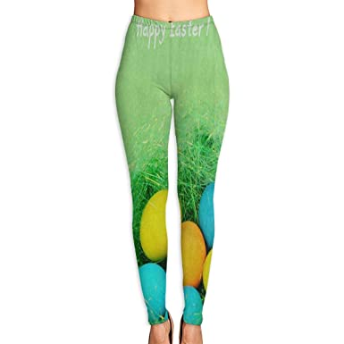 355537e6234323 Amazon.com: Bei Tang Womens Yoga Pants Easter Egg Green Grass Slim Fit  Leggings Fitness Pant: Clothing