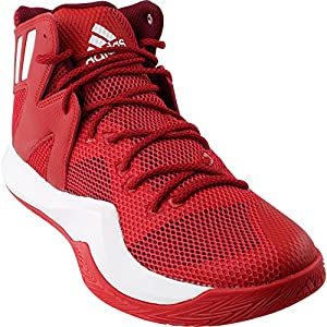adidas Originals Men's Shoes | Crazy Bounce Basketball, Scarlet/White/Cardinal, (10 M US)