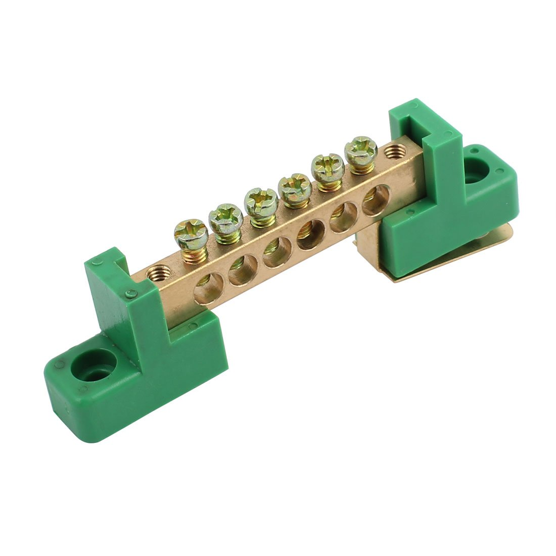 Aexit XP0609D Wire Connection Screw Terminal Strip Copper Terminal 6 Positions Green