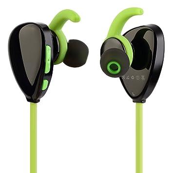 OUTAD Auricular Bluetooth para Deporte Inalámbricos Bluetooth 4.1, Aprueba de Sudor y Humedad: Amazon.es: Deportes y aire libre