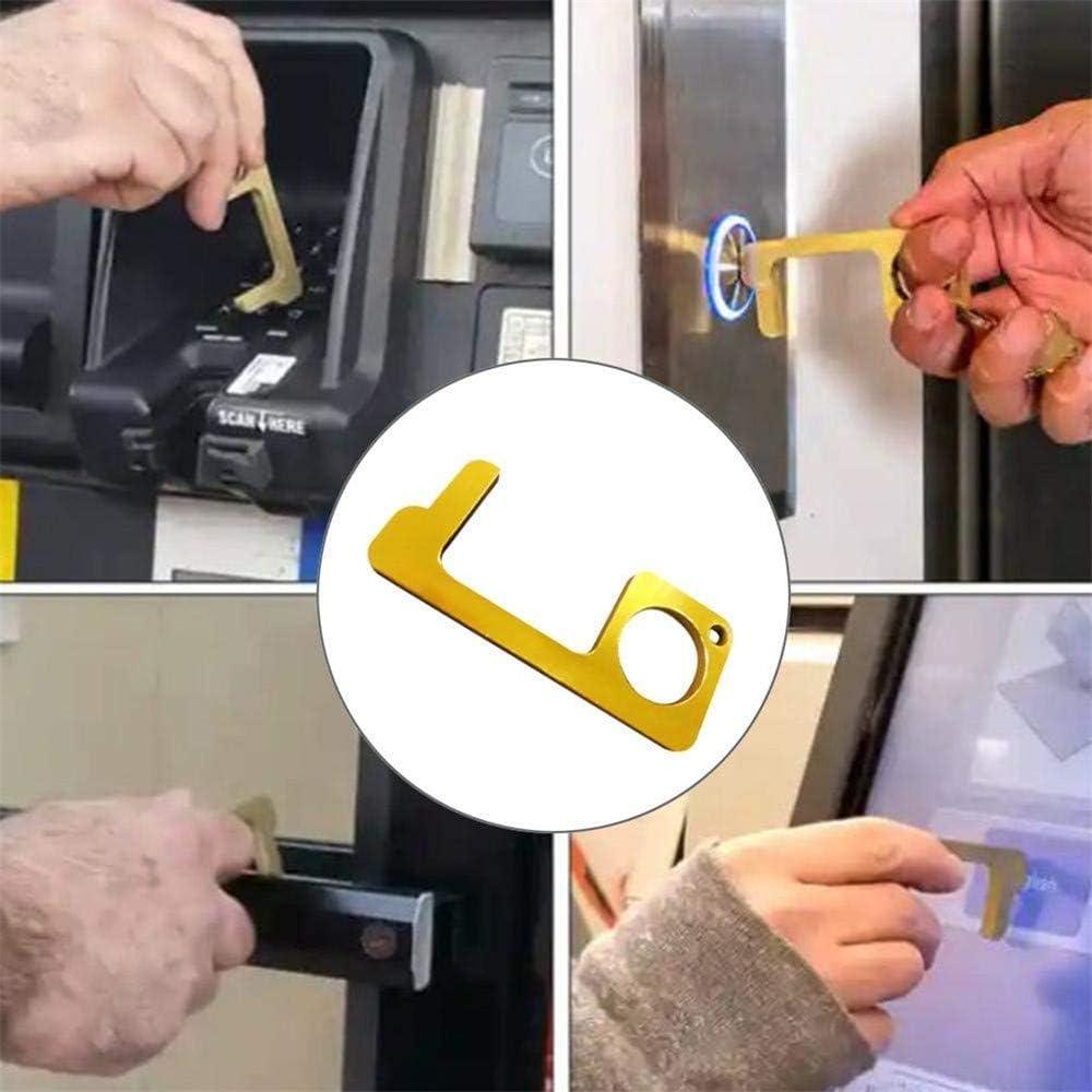 Apriporta senza contatto Apriporta Maniglia Pressa Chiave Ascensore Strumento No Touch Apriporta No-Closer Facile da usare superficie di servizio pi/ù vicina per tenere le mani pulite