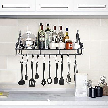 Wondrous Amazon Com Kitchen Shelf Organizer Decorative Wall Mounted Best Image Libraries Thycampuscom