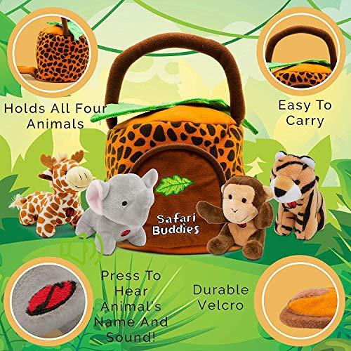 KLEEGER Plush Talking Jungle Animals Toy Set (5 Pcs - Plays