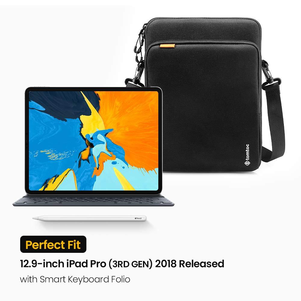 tomtoc Bolsa de protecci/ón para Tableta de 360 /° dise/ñada para el Nuevo iPad Pro 2018 de 12,9 Pulgadas 10.5 Nuevo iPad Air con asa y Bolsillo organizado para iPad Cable de Cargador 11 iPad Pro