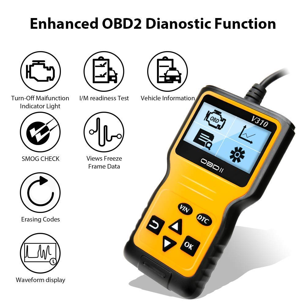 EOBD//CAN-Modi f/ür alle PKW mit 16-Pin OBD-II Schnittstelle und Batterie Test Auto OBD II Diagnose Scanner arbeitet an Autos Fahrzeug-Fehlercodeleser mit OBD2 SoonCat OBD2 Diagnoseger/ät