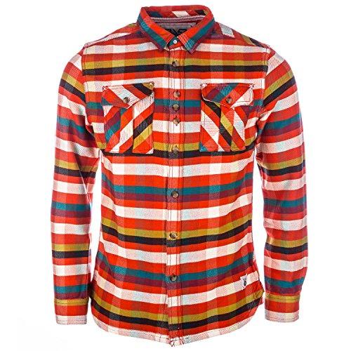 Hemd FLY53mit Tasten für Herren in Rot