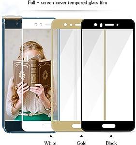PmseK Protector de Pantalla,Vidrio Templado,Full Cover Cristal Templado Tempered Glass Film For Nova 2 P8 P9 P10 Plus Lite Protective Film For Y5 Y6 Y7 For Huawei Y6 2017 White