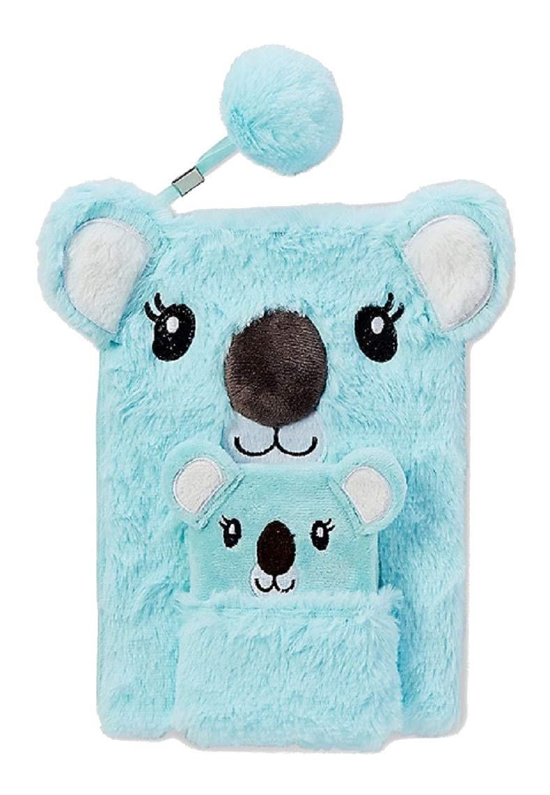 Justice for Girls Koala Pocket Faux Fur Journal Diary