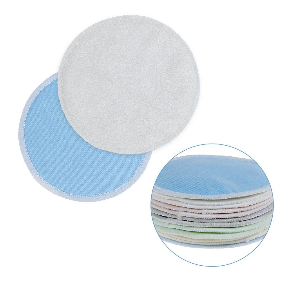 Riutilizzabili,Ultra Morbide Confezione da 12 Lictin Coppette Allattamento Assorbilatte Lavabili in cotone con sacchetti da lavaggio e di organza