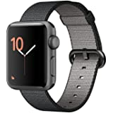 Apple Watch Series 2, 42mm Space Gray Aluminum Case with Black Woven Nylon Band