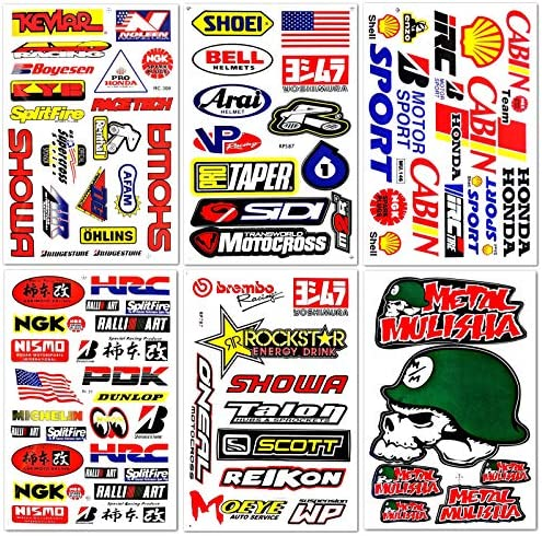 Motocross Motorcycles Supercross stickers D6014 product image