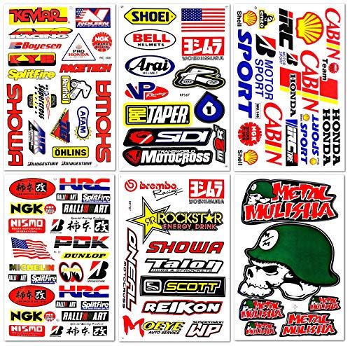 (Motocross Dirt Bike Motorcycles Supercross ATV Lot 6 vinyl decals stickers D6014)