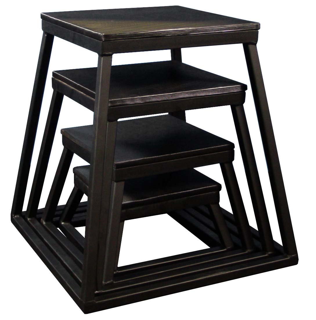 Plyometric Platform Box Set- 6'', 12'', 18'', 24'' Black