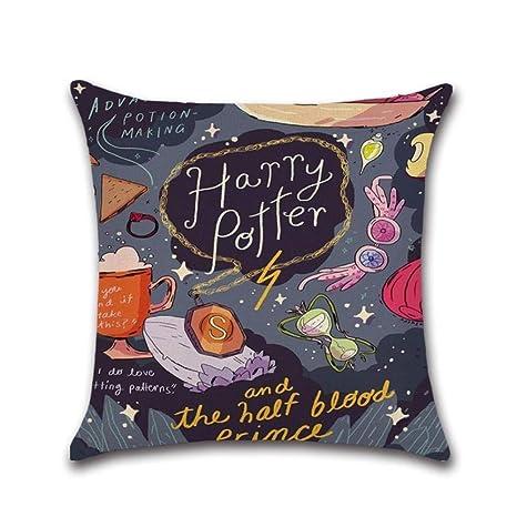 Z-H Creative Harry Potter Funda de cojín de Lino y algodón ...