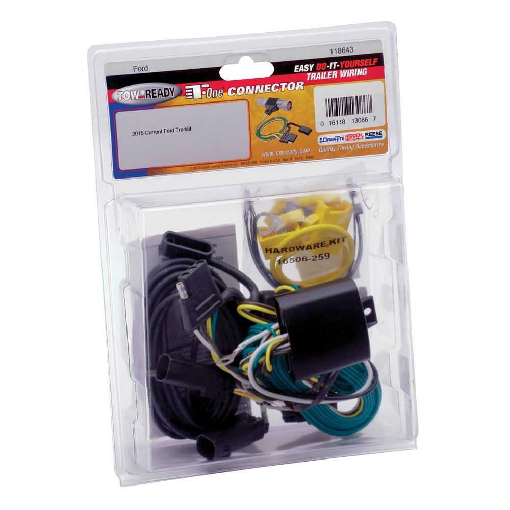 Amazon.com: Draw-Tite Tow Harness T-Connector Trailer Wiring Harness  2015-2018 Ford Transit-150, Transit-250: Automotive