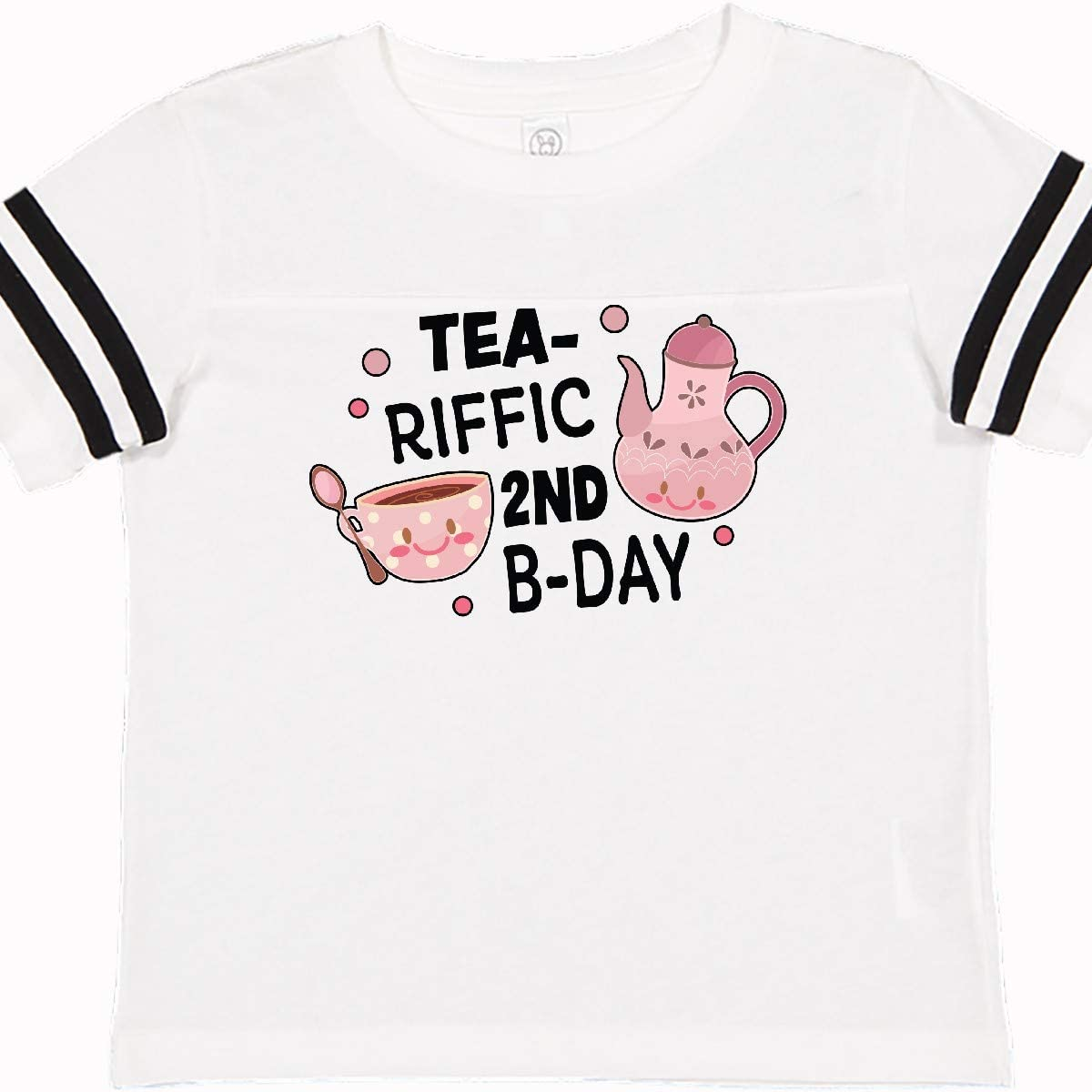 inktastic Tea-riffic 2nd Birthday with Teacup and Pot Toddler T-Shirt