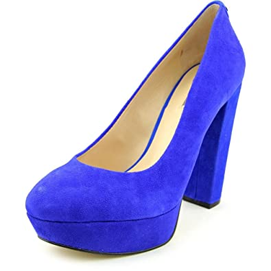 GUESS Womens Padey Closed Toe Platform Pumps Black suede Size 10.0 Xtar