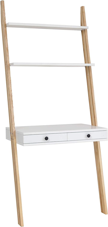 Ragaba Leno - Mesa de escalera, 2 cajones, madera FSC®, fácil montaje, ancho 79 cm: Amazon.es: Hogar