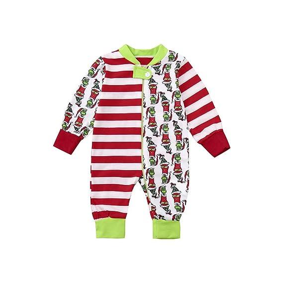 Homebaby Famiglia Pigiama di Natale Mamma papà Neonato Bambino Bebè Costume  Divertente Abiti Tuta 2PC Uomo Donna Vestiti Manica Lunga Tops + Pantaloni  Set ... 0709336c142