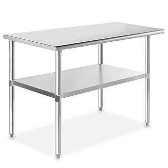 Amazon.com: Gridmann mesa de cocina de acero inoxidable de ...