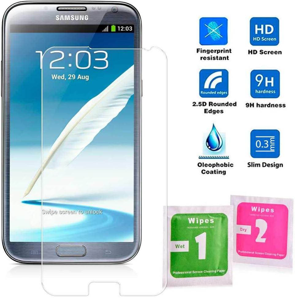 Protector Cristal Templado para Samsung Galaxy Note 2 II N7100 ...
