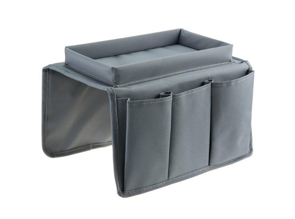 Mvchif Sofa Remote Holder 6 Pockets Armrest Organizer Collapsible TV Control Organizer Bag Magazine Holders for Couch Bed (Gray)