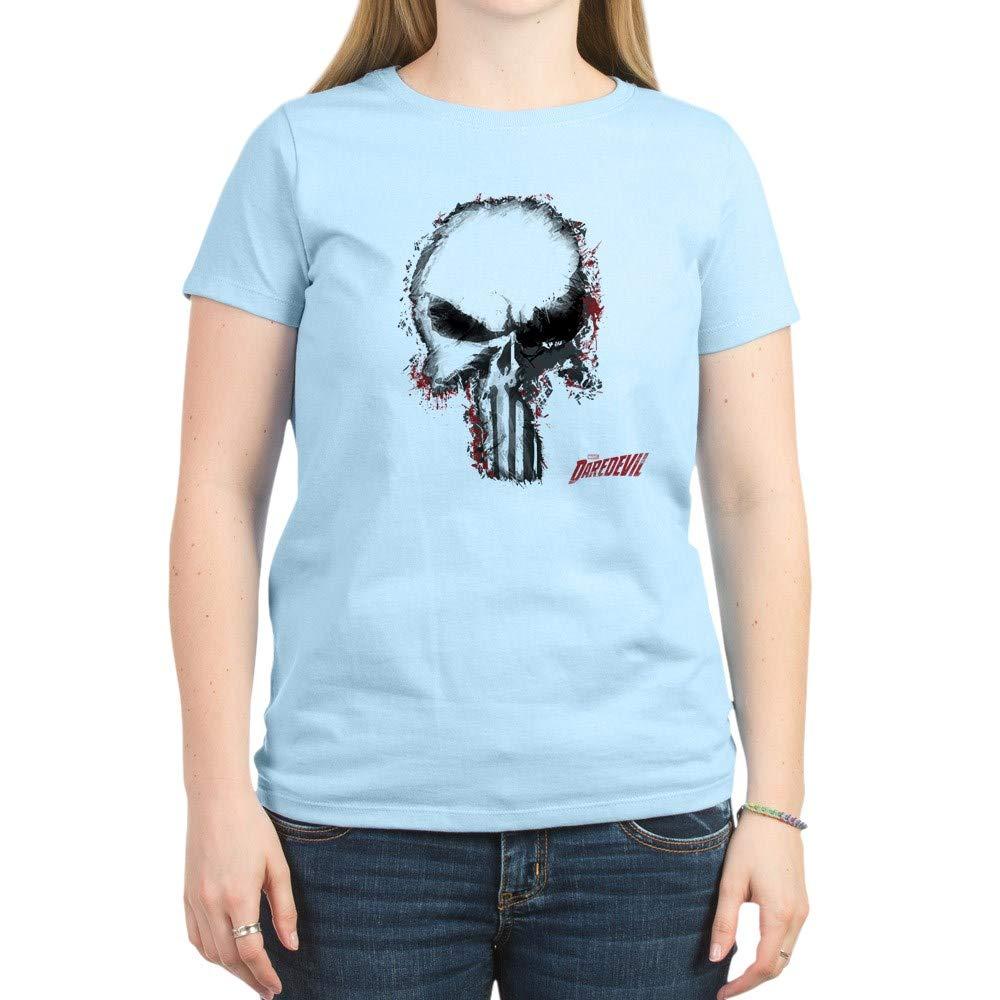 Punisher Skull Outline Crew Neck Tee 7867 Shirts