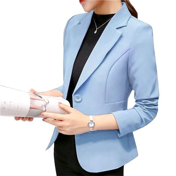 c586106df4e3a3 Elonglin Blazer Femme Veste de Tailleur Mache Longue Classique Design Coupe  ajustée pour Silhouette élancée Quotidien Travail