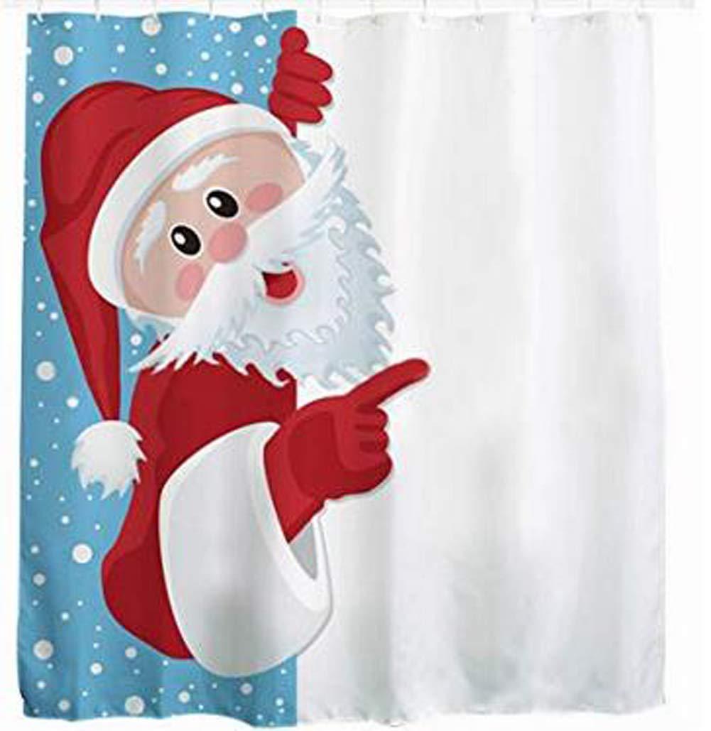 Candora. Naughty Santa 3D Stampa Digitale Poliestere Tenda da Doccia Impermeabile Muffa Tenda della Doccia