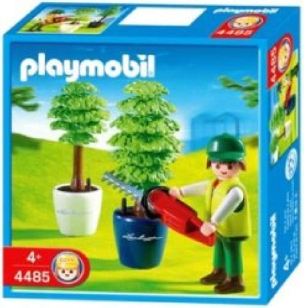 Amazon.com: Playmobil Gardener with Hedge Trimmer: Toys & Games
