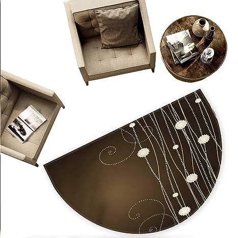 Amazon.com: Cojín semicircular de chocolate con flores ...