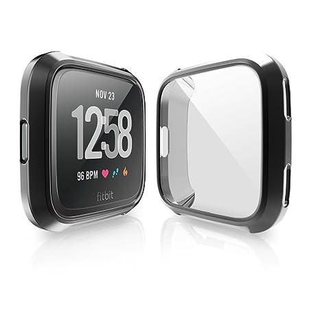 Für Fitbit Versa Schutzhülle, KTcos Slim Plated TPU Case Kratzfest Abdeckung für Fitbit Versa (3-Pack): Amazon.fr: High-tech
