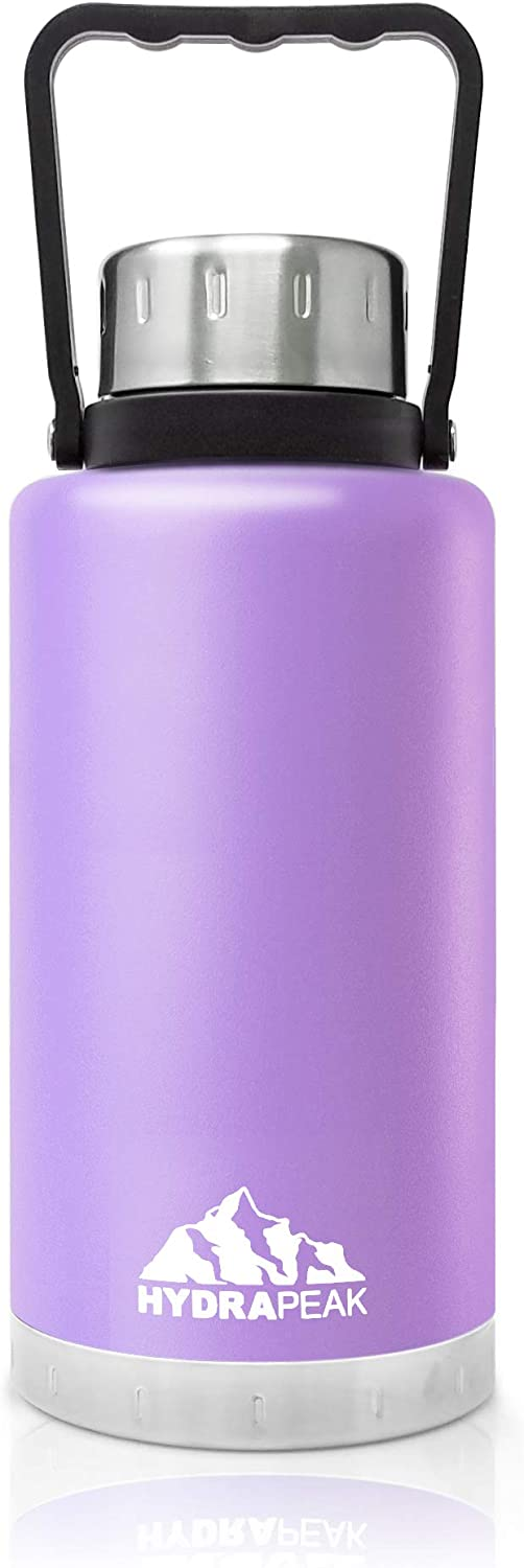 Hydrapeak 50oz Water Bottle | Vacuum Insulated Tumbler | Double Wall Sports Thermos | BPA-Free Leak-Proof | 18/8 Stainless Hydro Steel Flask - Lilac