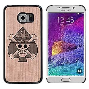 - Poker Skull Metal Rock Spades - - Funda Delgada Cubierta Case Cover de Madera FOR Samsung Galaxy S6 Edge G9250 G925F BullDog Case