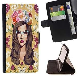 King Case - FOR Samsung Galaxy Core Prime - I falling love with you - Prima caja de la PU billetera de cuero con ranuras para tarjetas, efectivo Compartimiento desmontable y correa para la mu?eca