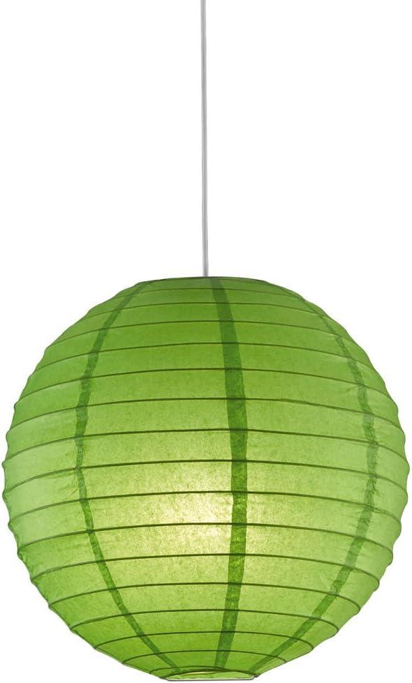 suspendu lampe Japon-Balle TRIO DEL Lampe Pendule Lampion Papier Parapluie orange 40 cm