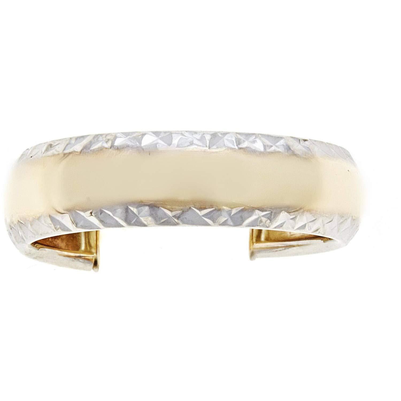 Zahaav Jewelry 10KT Solid Yellow Gold Diamond-Cut Adjustable Toe Ring
