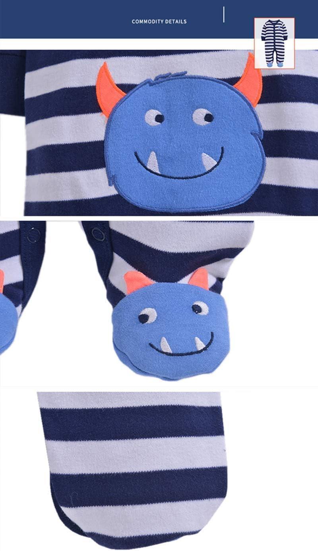 0-3 Months Newborn Romper Baby Boys Girls Jumpsuit Long Sleeve Bodysuits Cartoon Onesie Cotton Sleepsuit