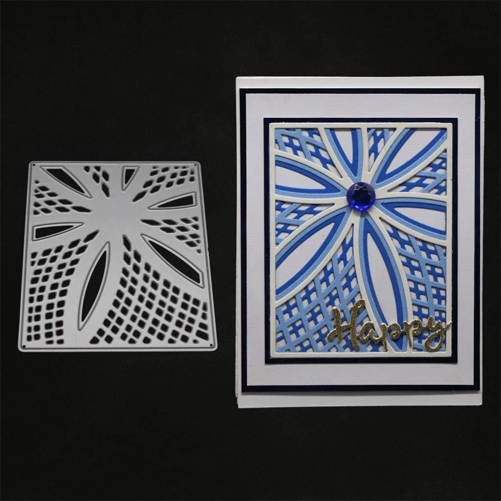 WuWangHAI Schneiden Schablonen Papier Handwerk Metall Schablonen DIY Kreativ Pr/ägeschablonen F/ür Sizzix Big Shot//Cuttlebug//und andere Pr/ägemaschine A