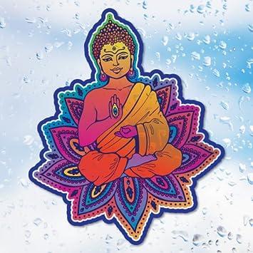 Amazon sunseal buddha lotus flower window sticker new age sunseal buddha lotus flower window sticker new age mandalas stained glass mightylinksfo
